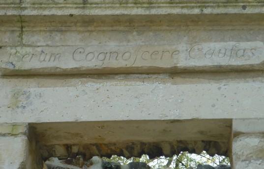 Inscription, Temple de la Philosophie moderne, Connaissance